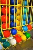 Bolas de mini golfe Imagens de Stock