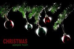 Bolas de Navidad de las chucherías de las decoraciones de la Navidad Imágenes de archivo libres de regalías