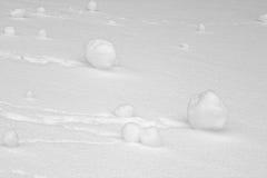 Bolas de nieve rodadas Fotografía de archivo libre de regalías