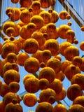 Bolas de oro Foto de archivo libre de regalías
