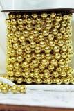 Bolas de oro Imagen de archivo libre de regalías