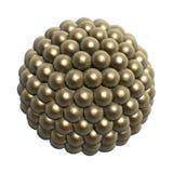 Bolas de oro ilustración del vector