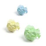 Bolas de papel arrugadas Imagen de archivo libre de regalías