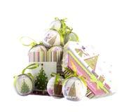 Bolas de papel de la Navidad Imagen de archivo