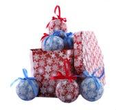 Bolas de papel de la Navidad Fotos de archivo