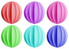 Bolas de papel de la Navidad - coloridas Imagen de archivo
