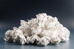 Bolas de papel de los desperdicios fotografía de archivo libre de regalías