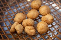 Bolas de pescados fritas foto de archivo