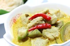 Bolas de pescados verdes del curry Foto de archivo