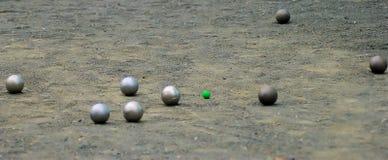 Bolas de Petanque foto de archivo libre de regalías