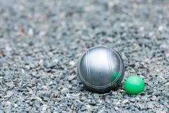 Bolas de Petanque Imagen de archivo libre de regalías