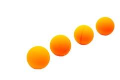 Bolas de ping-pong Imagen de archivo