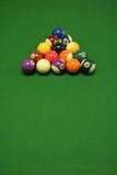 Bolas de piscina Foto de archivo libre de regalías