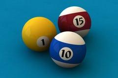 Bolas de piscina Imagenes de archivo