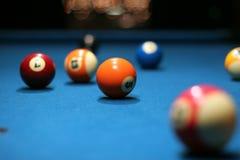 Bolas de piscina Fotografía de archivo libre de regalías