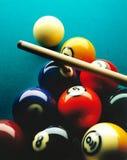 Bolas de piscina Fotos de archivo libres de regalías