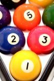 Bolas de piscina coloridas Imágenes de archivo libres de regalías