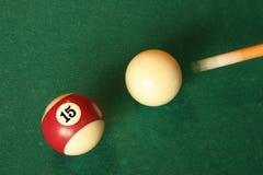 Bolas de piscina de conducción de la señal Fotos de archivo libres de regalías