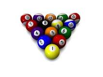 Bolas de piscina del billar Imagen de archivo libre de regalías