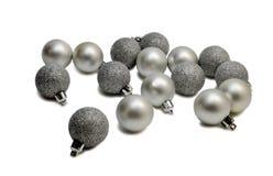 Bolas de plata Fotos de archivo libres de regalías