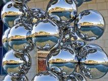 Bolas de plata foto de archivo
