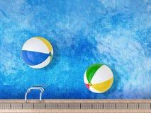 Bolas de praia Imagens de Stock