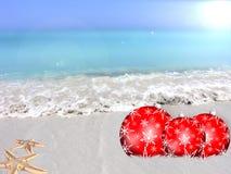 Bolas de praia do Natal Foto de Stock