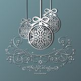 Bolas de prata do Natal Imagens de Stock Royalty Free