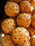 Bolas de Sepak Takraw para el balompié tailandés Fotografía de archivo libre de regalías