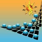Bolas de Sun y del horóscopo ilustración del vector