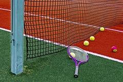 Bolas de tênis & Racket-3 Imagem de Stock Royalty Free