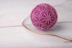 Bolas de Temari, una bola de la artesanía en estilo japonés tradicional Fotos de archivo libres de regalías