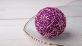 Bolas de Temari, una bola de la artesanía en estilo japonés tradicional Fotografía de archivo libre de regalías