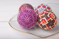 Bolas de Temari, una bola de la artesanía en estilo japonés tradicional Fotografía de archivo