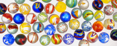 Bolas de vidro diferentes foto de stock