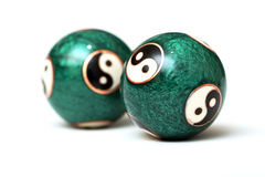 Bolas de Ying Yang Foto de archivo libre de regalías