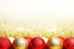 Bolas decorativas de la Navidad Foto de archivo libre de regalías