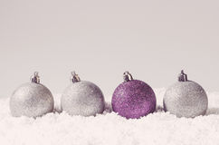 Bolas decorativas de la Navidad Foto de archivo