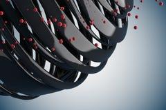 bolas decorativas rayadas 3D imagen de archivo libre de regalías