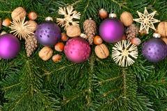Bolas del árbol de navidad Imagenes de archivo