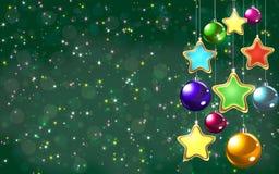 Bolas del árbol de navidad Imagen de archivo