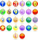 Bolas del Año Nuevo con números Foto de archivo
