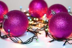 Bolas del Año Nuevo y de la Navidad Fotos de archivo libres de regalías