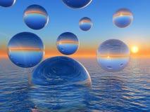 Bolas del agua ilustración del vector