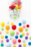 Bolas del algodón Fotos de archivo libres de regalías