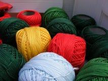 Bolas del algodón Imagenes de archivo
