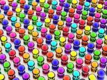 Bolas del arco iris Foto de archivo