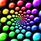 Bolas del arco iris Imágenes de archivo libres de regalías