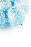 Bolas del azul de la Navidad Imagen de archivo libre de regalías