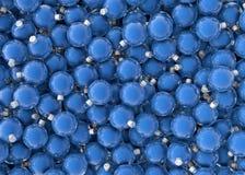 Bolas del azul de la Navidad Foto de archivo libre de regalías